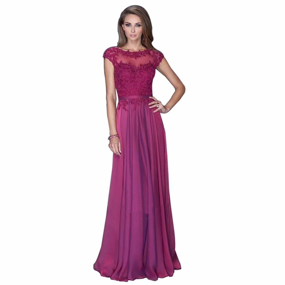 New Long Evening Dress 2016 Vestido De Festa Arrival Formal Dresses Pink Chiffon Party Vestidos Longo