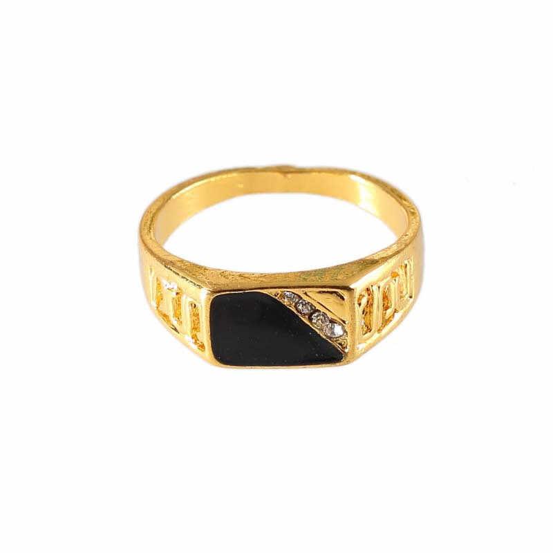 ใหม่คลาสสิก Rhinestone แหวนผู้ชายเครื่องประดับแหวนเงินเคลือบแหวนนิ้วมือหมั้นแหวนผู้หญิงแต่งงานหญิงของขวัญ