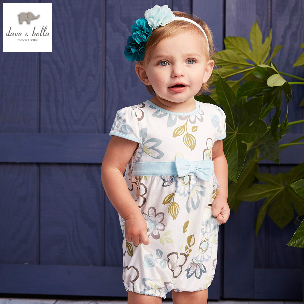 DB4436 dave bella summer new born baby girls cotton romerp kids romper infant clothes childs romper baby 1 piece children romper db5033 dave bella summer new born baby unisex rompers cotton infant romper kids lovely 1 pc children romper