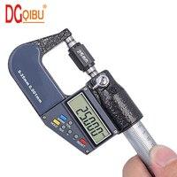 0 25 50 75 100mm digital micrometer 0.001mm electronic micrometer caliper gauge chrome plated outer diameter micrometer