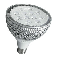 LED Par38 15W E27 Spotlight Lamp Dimmable Spot Lamp Bulb 110V 220V White Warm White White silver Optional