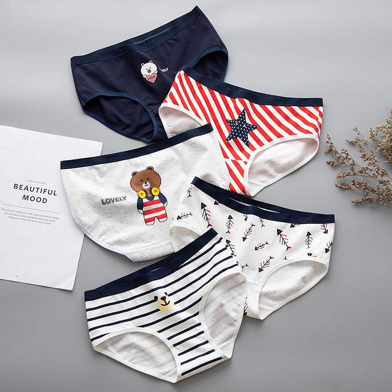 Women Lingerie Cute Bear Briefs For Female Underwear Cotton Sexy   Panties   Female Seamless Underpants Ladies   Panty