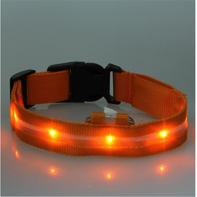 High Quality Pet LED Dog Collar Night Safety LED Flashing Glow LED Pet Supplies Dog Cat Collar Small Dogs Collars For Puppy 2