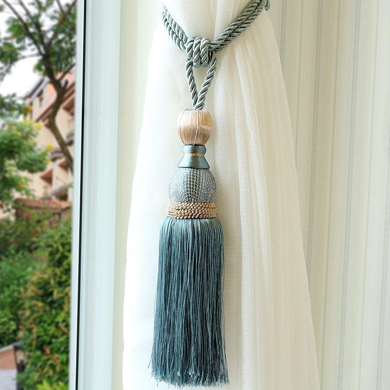 Curtain-Strap Hanging-Ball Tassel Mesh Gold 1pcs High-End