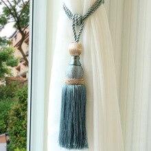 1 pçs ouro malha única bola cortina cinta pendurado bola alta final borla pendurado bola cortina pendurado bola