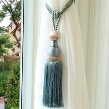 1pcs Gold Mesh Single Ball Curtain Strap Hanging Ball High end Tassel Hanging Ball Curtain Hanging Ball
