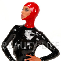 Latex Hood Mask w/ face opened half cover charming new style fetish hood 100% Natural rubber and handmade