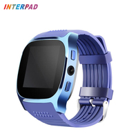 Interpad T8 Smart Watch Bluetooth 4.0 Smartwatch With Camera Support SIM Card Sleep Monitor Smart watch For Xiaomi Huawei PK A1
