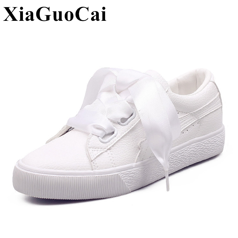 2017 Summer Casual <font><b>Shoes</b></font> Women Fashion Butterfly-knot shoelace Platform All-match <font><b>White</b></font> Flats <font><b>Shoes</b></font> Single <font><b>Shoes</b></font> H350 35