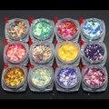 12 Cores Tamanho: 2mm * 3mm Muito Popular em forma de DIAMANTE cor holográfica glitter lantejoulas para nail art 12jar/set