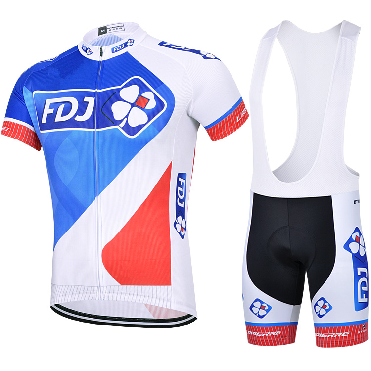 2017 FDJ Cycling Jersey Sets Men Bike Jersey race team Cycling Clothing short sleeve Bicycle Maillot mtb ciclismo bib shorts cheji men original camouflage green cycling jersey mtb outdoor breathable bike short sleeve clothing bicycle jersey s 3xl
