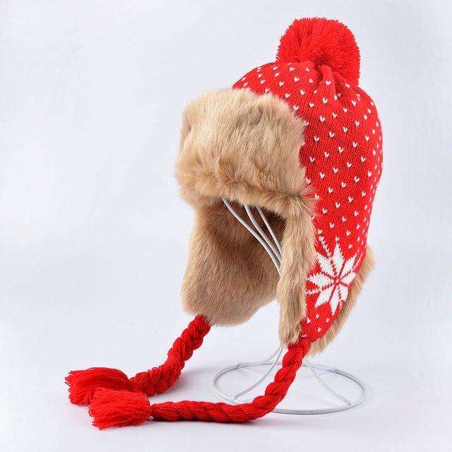 Мода Зима Шляпа Женщин Меховая Шапка Теплая Плюс Бархат Двойного Назначения шляпы Для Женщин Сгущает Вязание Шапки Дамы Зимняя Шапка Шерсть Шляпа