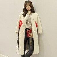 Arlenesain пользовательские женщины Дубленки норки лоскутное шерсть меховой длинное пальто. 604