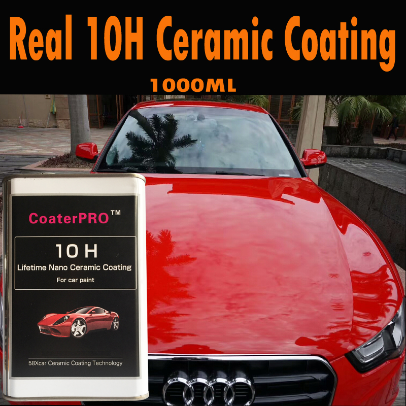 CoaterPRO 10H Permanent Ceramic Coating Lifetime Super Shiny Like Mirror Super Water Repellent New Nanotech From Japan Factory
