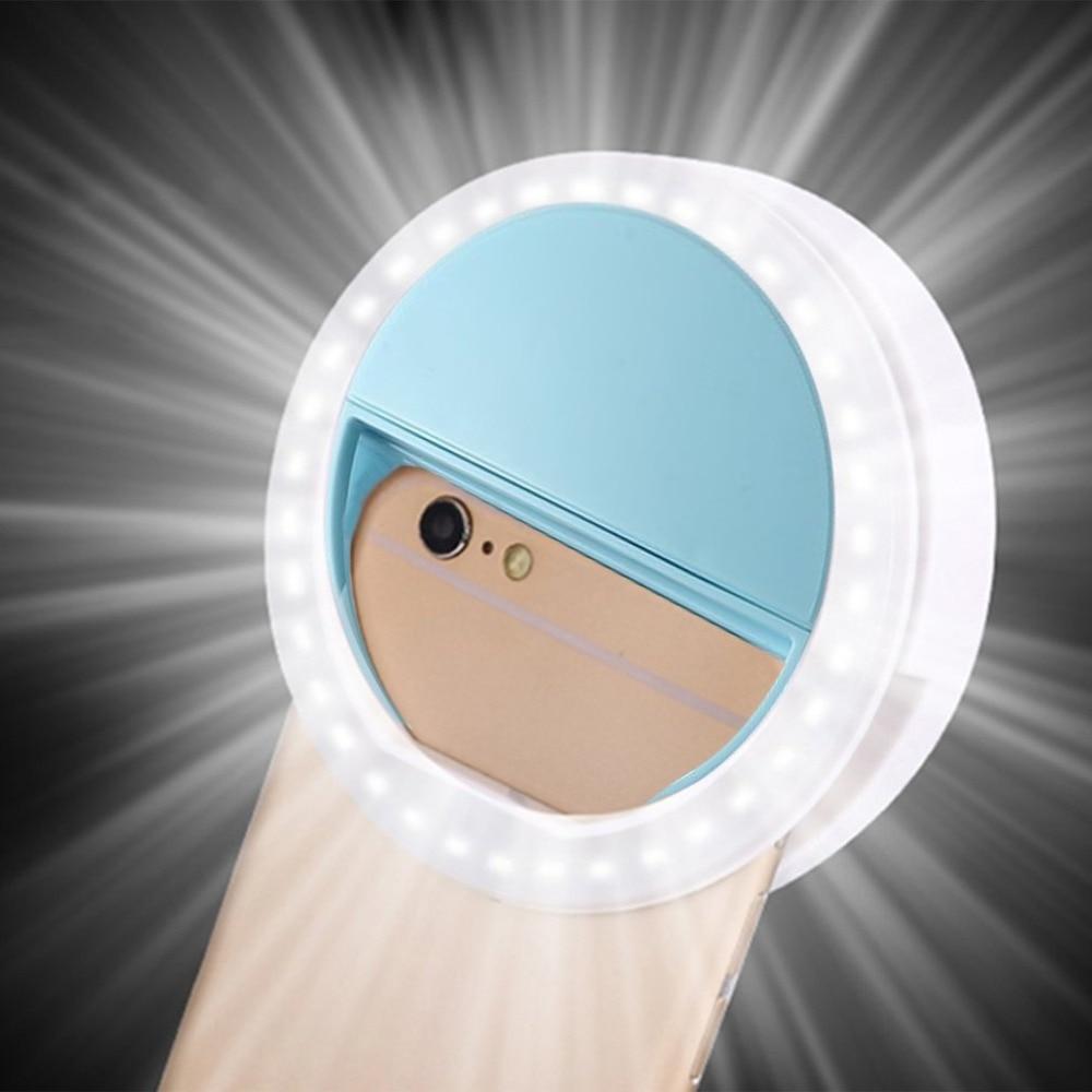 LED universel Selfie anneau lumineux Portable Selfie lampe lentille de téléphone Portable pour iPhone XS Max Xiaomi Samsung anneau lumineux Clip