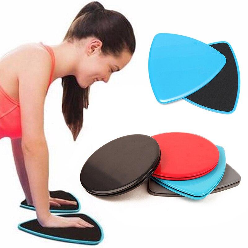 1 Paire Fitness Planeurs Disques Glisser Core Ab Rond Triangle Disque Workout Gym D'entraînement des membres Minceur Abdominale Slide Pad