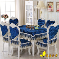 Blue Tablecloth Rectangular Cloth Cotton Table Cloth Dustproof Table Cover Square Splicing Tablecloths for Wedding Party Home
