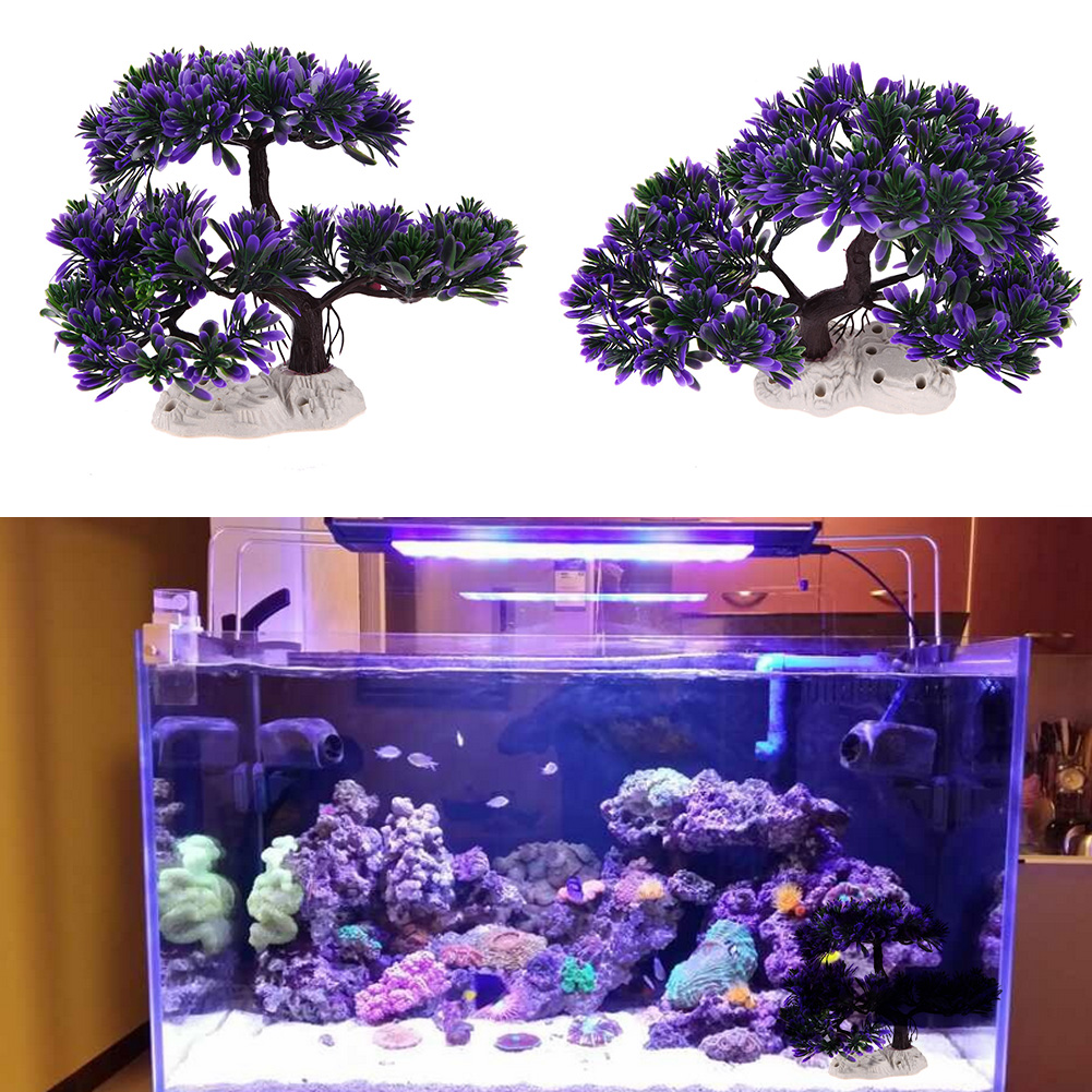 Plastic artificial plant tree ornaments for aquarium fish for House decoration products