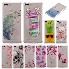 Phone Case Fundas Huawei Y9 2018 FLA LX1 LX2 case For Coque Huawei Y 9 2018 Colored Cartoon Soft Silicone TPU cover phone cases funny stitch case soft silicone phone case for huawei y9 2018 capa fundas coque for huawei y9 2019 silicone cover honor 8x cases
