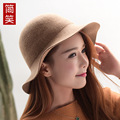 Winter wool hat ms.man Korean fisherman hat 2016 new blended leisure all-match basin hat hat light