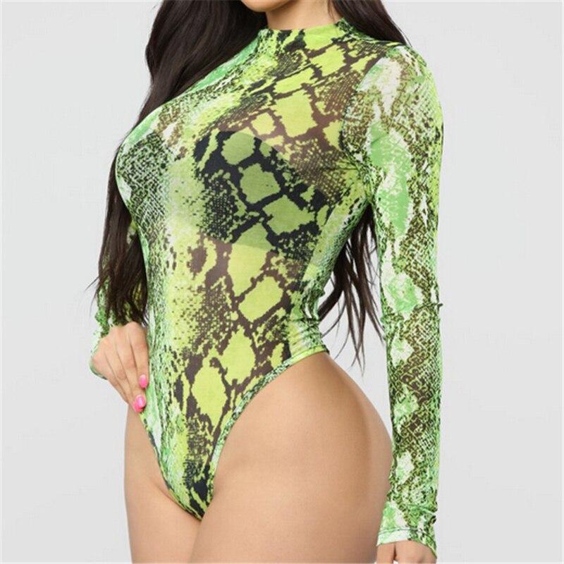 Women Bodysuit Long Sleeve Turtleneck Romper Jumpsuit Leotard Tops Transparent Bodysuit Sexy Short Jumpsuit Casual Party Clothes