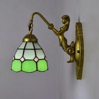 Lâmpada De Parede verde Arte do Vitral Luminária de Luz LED Wall Light Arandelas Corredor Interior Fixação para Corredor Bar Sala de estar|Luminárias de parede| |  -