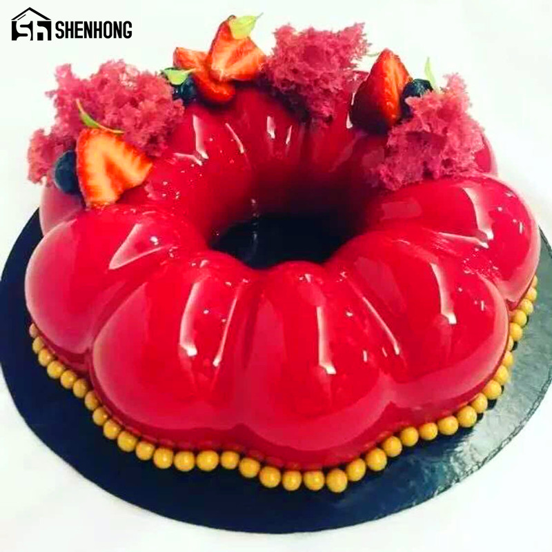 Hollow Garlanded Mousse shaped Silicone Cake Mold For Ice Creams Chocolates 3D Cake moulds Pan Bakeware Accessories