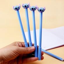 40pcs/lot Cartoon Stitch 0.5mm Black Ink Gel Pe Unisex Pen Sign Pen Office School Stationery