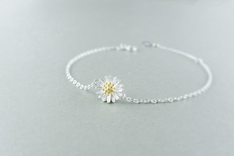 AKOLION Silver Cherry Blossoms Bracelets Charm Flower Bracelets 925 Sterling Jewelry For Girl Women 14