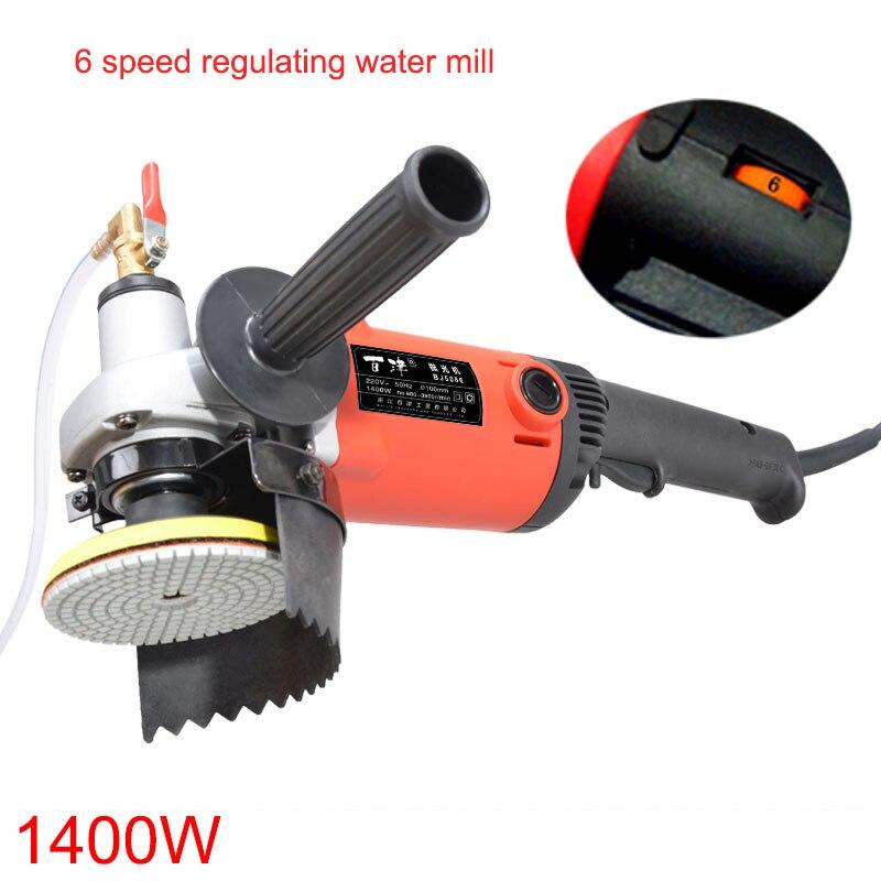 цена на BJ5086B 1400W water machine polishing of marble stone wet water mill machine, stone polishing, grinding sander 1pc