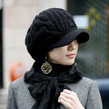 Kesebi 2017 New Hot Fashion Women Autumn Warm Winter Knitted Twist Caps Hats Female Casual Solid Color Classic Skullies Beanies  цены