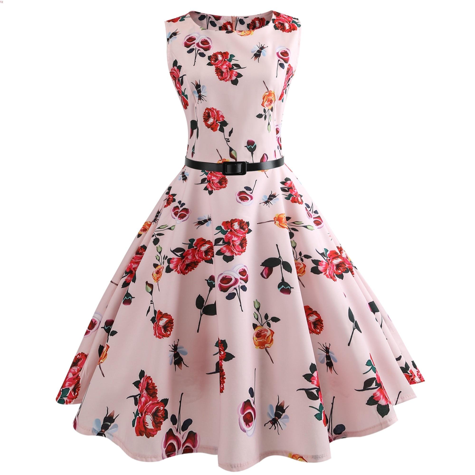 14a4e02b39 Rainbow Plaid Plus Size Women Vintage Dress Robe Vestidos Hepburn 50s Party  Dresses Casual Elegant Rockabilly Pin Up Sundress-in Dresses from Women's  ...