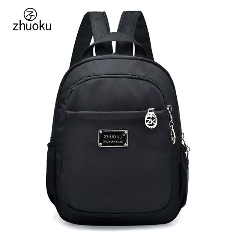 Mini Casual Women Nylon Backpack Fashion Small Backpack for Teenage Girls Bolsa Mochila Feminina Waterproof Women Bagpack ZK769