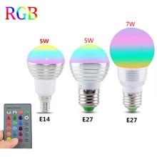 E27 E14 LED 16 Farbwechsel RGB Magie Glühbirne Lampe 85 265V 110V 120V 220V RGB Led Licht Scheinwerfer + IR Fernbedienung