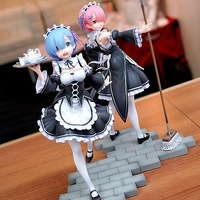 Re Life In A Different World From Zero Maid Ram with Mop on the floor PVC Figure Collectible Model Toy 22cm