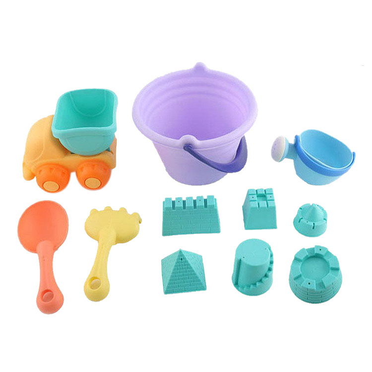 11Pcs Summer Children'S Soft Rubber Beach Toy Car Play Sand Tool Shovel Child Sand Castle Diy Children'S Beach Bucket Scorpion