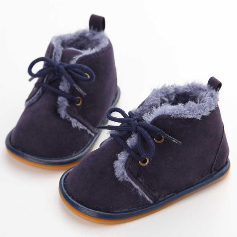1f65588a2 ... Delebao новые модные однотонные Кружева ребенком Ботинки с перекрестной  шнуровкой для осень/зима Обувь для ...