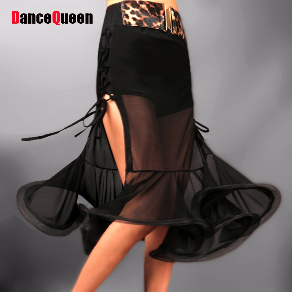 2018 New Arrival Women Latin Dance Skirt Lady Tango/Cha cha/Rumba/Samba Dress Skirts Competition/Performance/Practice Danza Wear