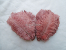 цена на 50/100/200pcs/lot Ostrich Feathers 6-8inches 15-20cm for Wedding Centerpieces Brown Color,Diy Wedding Decoration Feather
