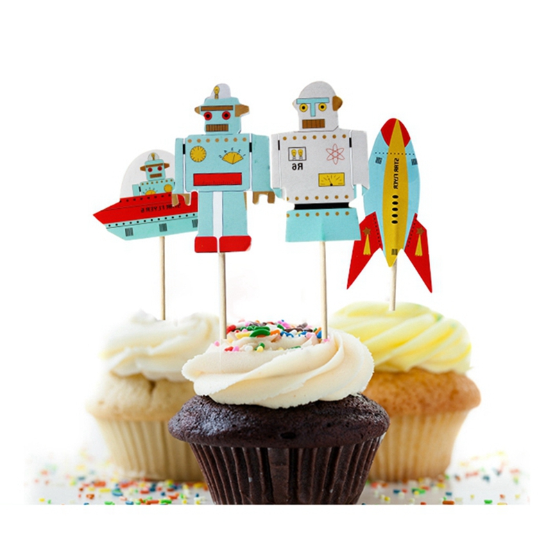 Rocket Birthday Cake Toppers