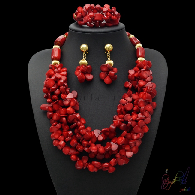 Yulaili tendances produits chauds Dubai bijoux ensemble shopping à Guangzhou