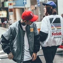 Japanese Hip Hop style MA1 bomber jacket Harajuku pilot street printing kodak