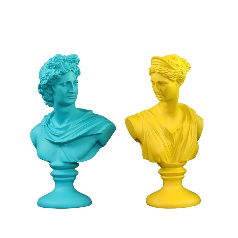 Aphrodite Figure Art Sculpture Venus Goddess Bust Statues Resin Art&Craft Home Decoration Accessories For Living Room R931