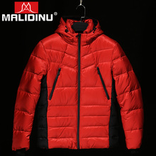 MALIDINU Men Duck Down Jacket Warm Coat 70%White Winter Feather Mens Parka Outwear