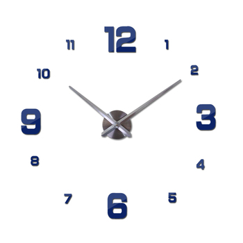 New Wall Clock Clocks Watch Horloge Murale Diy 3d Acrylic Mirror sticker Large Home Quartz Circular Needle Modern Free Shipping 8
