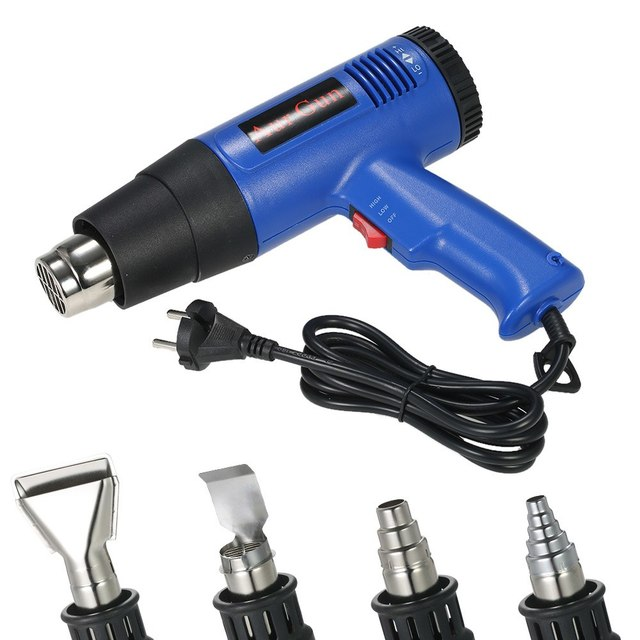 Ab tak dijital elektrikli sıcak hava tabancası sıcaklık kontrollü isı IC SMD lehimleme kaynak araçları lacivert tabancası 1800W