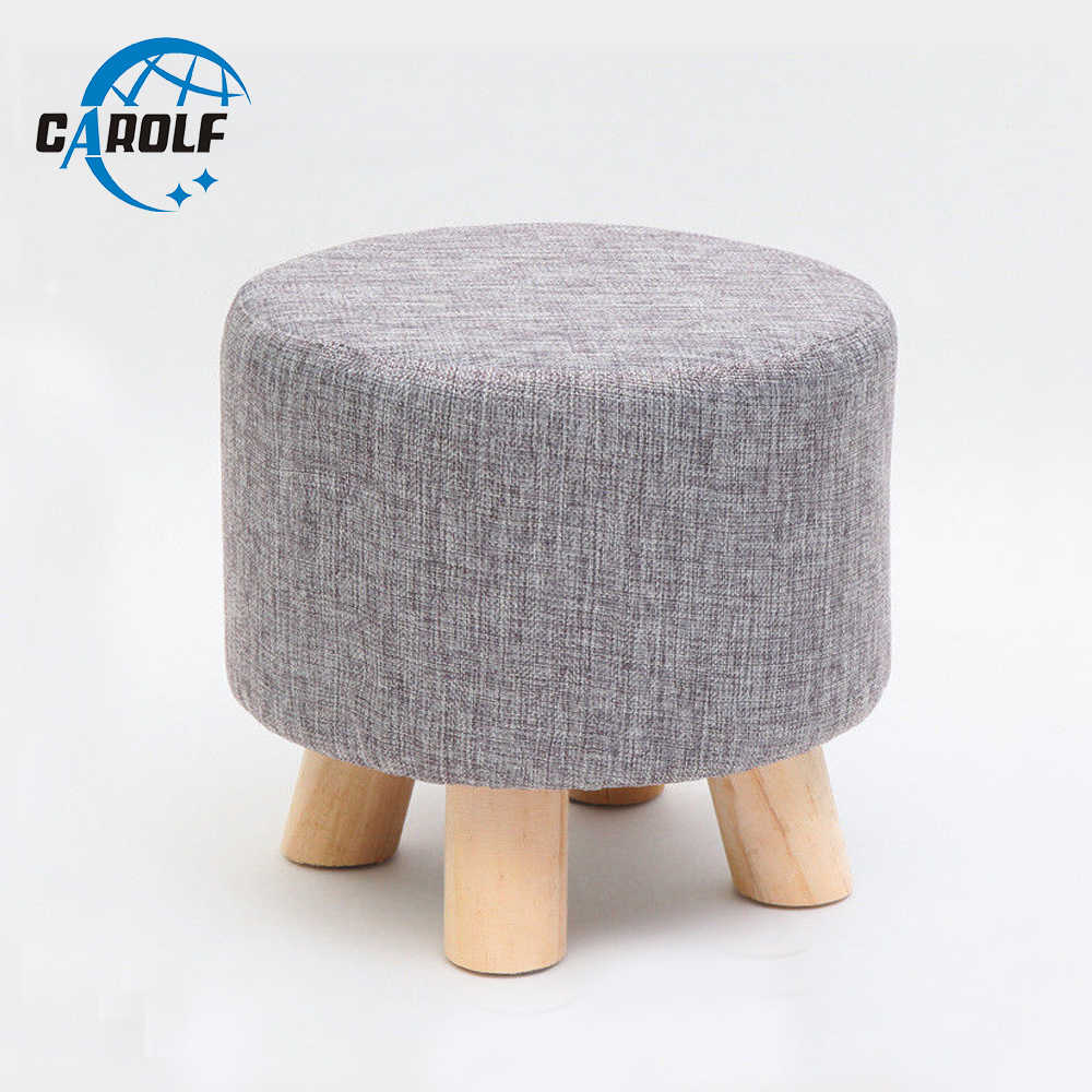 Cool Hot Selling Round Ottoman Stool Small Wooden Soft Rest Chair Inzonedesignstudio Interior Chair Design Inzonedesignstudiocom