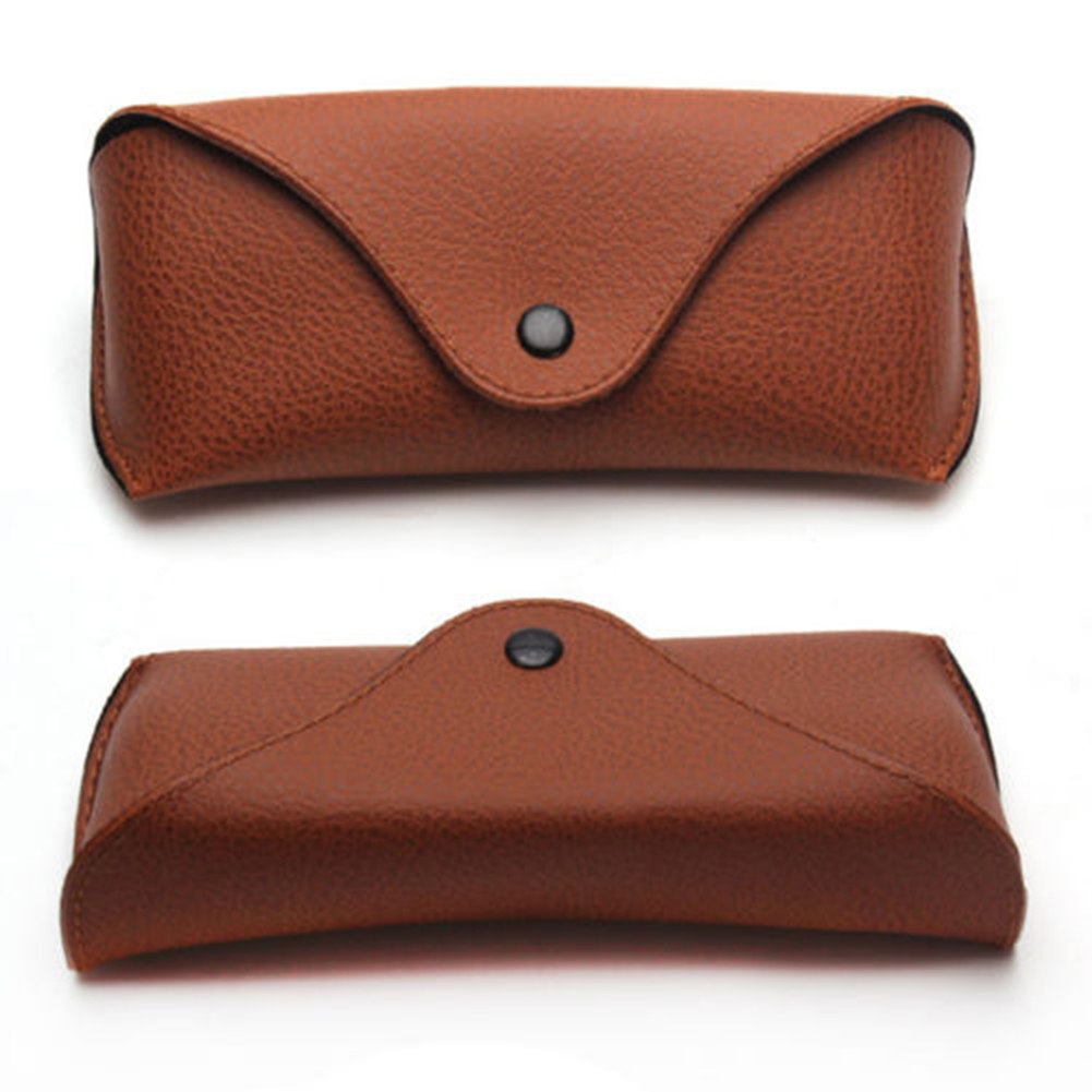 f7444bfe511 Portable Unisex Faux Leather Eye Glasses Sunglasses Holder Box Case Cover  Folding Sunglasses Case-in Accessories from Apparel Accessories on  Aliexpress.com ...