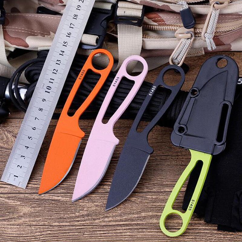 Brand fixed blade knife straight knifes Hunt Survive pocket knives+ ABS sheath Hike Edc tools image