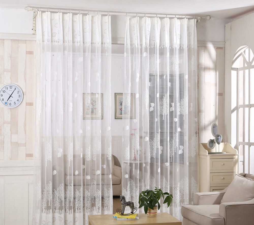 Sheer white bedroom curtains - 2016 Fashion Sheers Tulle Window Curtains Quality Curtains Tulle Sheer Curtains For Bedroom Living Room White Brown Beige